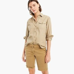 "J. Crew 10"" Bermuda Stretch Chino Shorts 00"